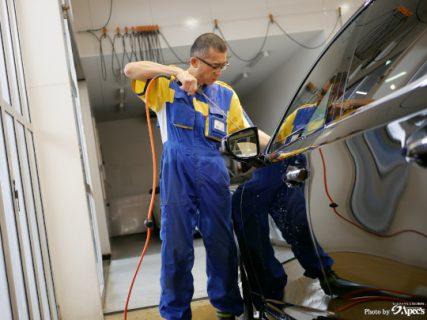高圧洗浄機とエアブロー