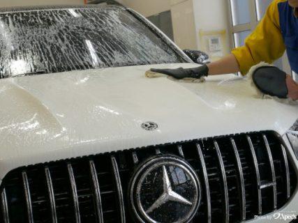 冬の洗車は大変💦