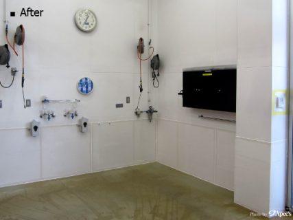 メンテナンス専用レーンの壁